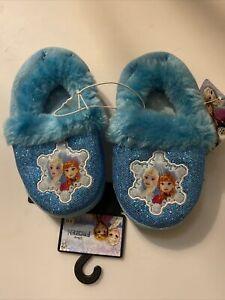 Disney Frozen Slippers house soles sleepwear 9 10 New NWT Elsa Anna Fur Sequin