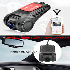 170° WiFi Hidden Car DVR Mini Camera Video Recorder Dash Cam Night Vision 1080P