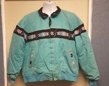 Vintage Luskeys Jacket Native American Design Corduroy Collar USA L