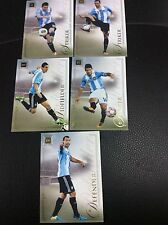 2014 Futera Unique Argentina 5 Card Set Aguero Lionel Messi De Maria World Cup