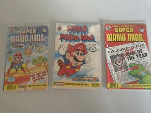 Lot of 3 Adventures of the Super Mario Bros. comics #1, #6, #7 (Valiant, 1990)