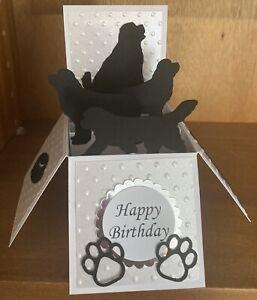 Pop up dog  Newfoundland themed card