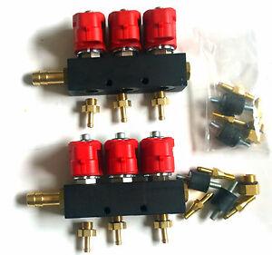 2 VALTEK TYPE 30 AUTOGAS LPG 3 CYLINDER INJECTORS RAILS OMVL ROMANO BI-GAS STAG
