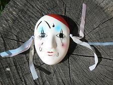 NUOVO Maschera Pierrot in porcellana da appendere 10