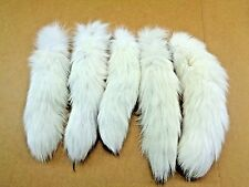 #1 Quality XL Arctic White Fox Tails/Crafts/Real Fur Tail/Harley parts/Purse