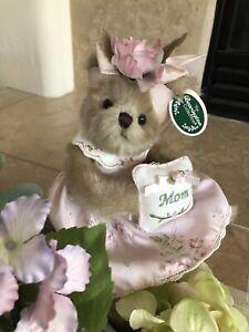 "Bearington Bears MOMMY SWEETHEART #165305  Plush 10""🐻w/Pink ""Mom"" Pillow MWT🌸"