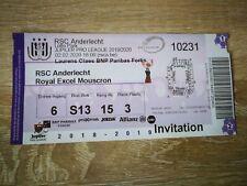 Ticket : RSC Anderlecht - Mouscron 02.02.2020