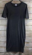 Lularoe Julia Dress, XS, Limited Edition Gray/Gold (146)