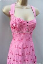 Karen Millen Pink Daisy Floral Applique Cotton Dress UK 8 EU 36