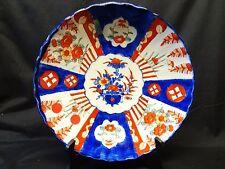 Early Chinese Flow Blue Imari Pattern Porcelain Bowl