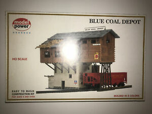 Model Power HO Scale Blue Coal Depot Unassembled Building Kit #453