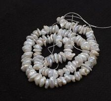 "freshwater pearl reborn keshi white baroque 9-10mm nature 15"" wholesale beads"