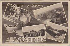 SALUTI A GRANDE VELOCITA' DA ALESSANDRIA - VEDUTINE E TRENO 1938