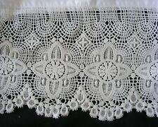 New White Embroidered Lace PillowCases Cotton Sateen  Standard Queen King Pr S3#