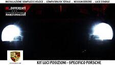 """COPPIA 2 LAMPADINE POSIZIONI LED BIANCO GHIACCIO """"PORSCHE BOXSTER 986"""" 2002-2004"""