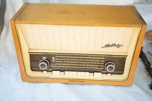 Telefunken Hi Fi System (HSE) D 779 WK Trop Mid Century Radio Console For Repair