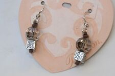 Cube & Crystal Wire Earrings New Authentic Brighton Sedona Silver
