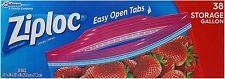 Ziploc Storage Gallon Bags 38 ea (Pack of 5)