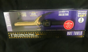 "Hot Tools 1"" Salon Curling Iron/Wand Extra-Long Barrel 24k Gold. Curling Iron"