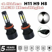 4 Sides H11 H9 H8 LED Headlight High or Low Beam Bulb 2000W 300000LM 6000K White