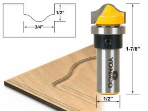 """3/4"""" Faux Panel Ogee Groove Router Bit - 1/2"""" Shank - Yonico 14978"""