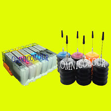 6 compatible refillable cartridge for Canon 670 671 + 180ml refill ink MG7766