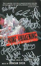 Jonathan Groff AND CAST SIGNED Spring Awakening Book COA