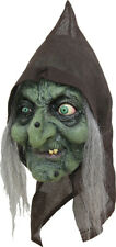 OLD HAG HOODED WITCH LATEX SCARY HALLOWEEN HEAD MASK