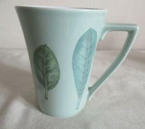 PORTMEIRION ~ SEASONS ~ PALE GREEN ~ LEAVES  MUG ~ 11.5 cm (2 AVAIL)
