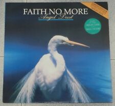 "FAITH NO MORE - ANGEL DUST LP + BONUS 12"" RARE FIRST 1992 UK PRESS"