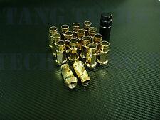 DARK STAR FORGED STEEL GOLD LUG NUTS 16 PCS 12X1.5MM HONDA ACURA CIVIC INTEGRA