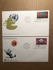 COMPLETE SET 1972 UNITED NATIONS NEW YORK FDC'S - OFFICIAL GENEVA CACHETS