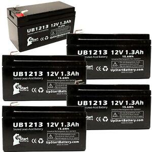 5x 12V 1.3Ah Sealed Lead Acid Battery For ACME Medical 4500 SCALE UB1213