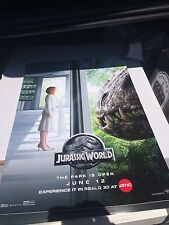 Authentic Limited Edition Amc Imax Jurassic World  Mini Poster 17in X 11in