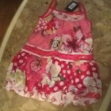 Catimini girls pink floral dress