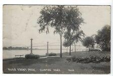 Postcard: RPPC  RIVER FRONT PARK  CLINTON, IOWA