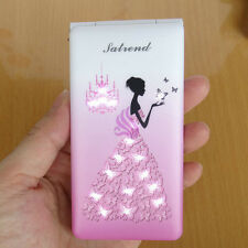 Newest personality Unlocked D11 Flip mobile cell phone Quad Band Dual SIM pink