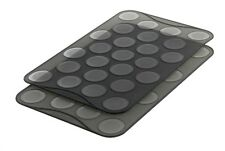 Mastrad Macaron / Macaroon Silicone Baking Pastry Sheet Mats, Set of 2, Makes 50