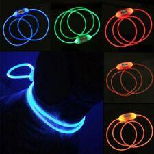 LED Light Dog Pet Night Safety Bright Luminous Adjustable Collar Leash Product