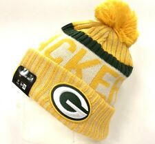 2017-18 Green Bay Packers Gold NEW ERA NFL Onfield SIDELINE SPORT KNIT Beanie
