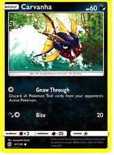 Carvanha 81/149  Pokemon TCG Sun & Moon Single Card