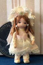 "DOLLHOUSE MINIATURE Porcelain Dollhouse Doll Ethel Hicks ""Vickie""  NEW for 2016!"