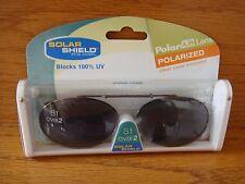 Solar Shield Fits Over  51 Oval 2 Gray Clip-On X-Span Frame Polar AB Lens w/Case