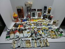 Big Vintage Oil Paint Lot 82 tubes charcoal,  artisan,  grumbacher Shiva deka