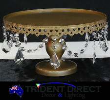"""Acrylic Strands Cake Stand Round 12""""-30cm French Gold"""