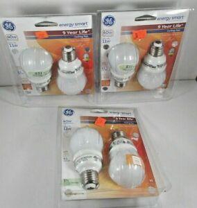 NIP Lot of 3 packs Energy Smart GE 40W Ceiling Fan Bulbs 450 Lumens