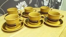 Vintage Kilncraft, six tea Cups & Saucers Retro - made in Staffordshire England