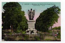 DIEUZE DUSS Moselle CPA 57 le monument aux morts de la guerre carte couleur
