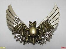 Steampunk Insignia Broche bronce Alas de Murciélago grande Plata Gótico Whitby Cheshire
