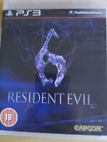 Resident Evil 6 VI PS3 Sony PlayStation 3 Game Boxed & Manual Fast Free UK Post